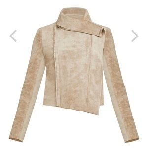 Ana faux suede jacket BCBG new with out tags